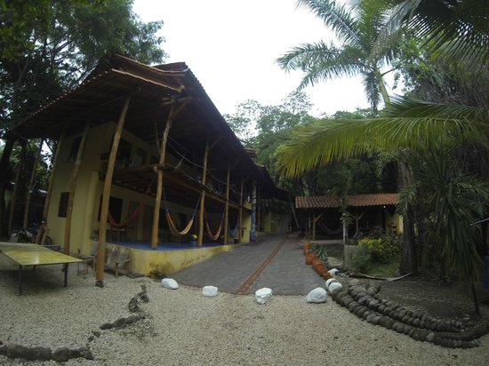 Tranquilo Backpackers: the private rooms are upstairs, the dorm is on the first floor, the kitchen is across to the rig