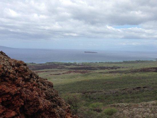 Makena Stables : Snack break hike view...