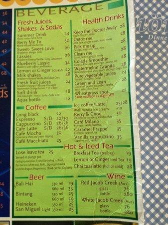 Cafe Smorgas: Menu A