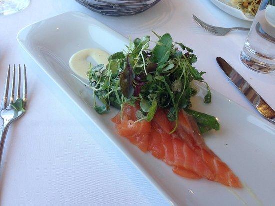 Vineland Estates Winery Restaurant: Marinated Asparagus, Poached Egg, East Coast Lobster, Smerek Sprouts, Horseradish Vinaigrette