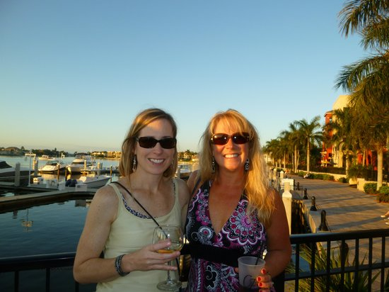 CJ's on the Bay : Overlooking outside bar to marina