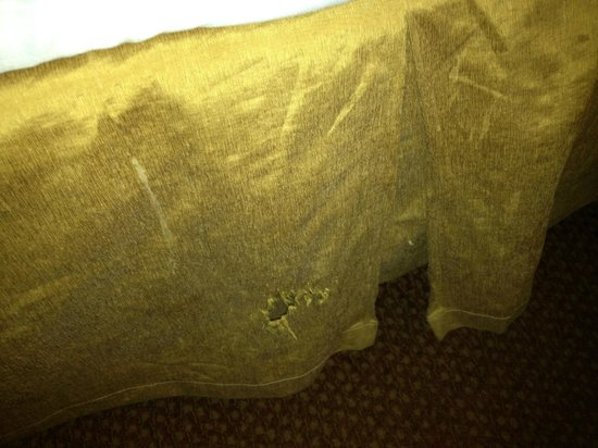 Santa Fe Station Hotel : Ripped Bed skirt
