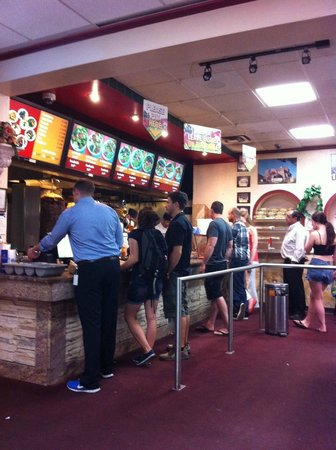 Shawarma Palace: The service line at the palace on Rideau St.