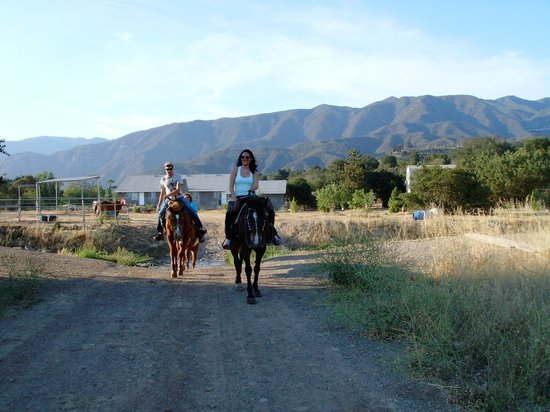 Western Trail Rides: The two of us on horseback!