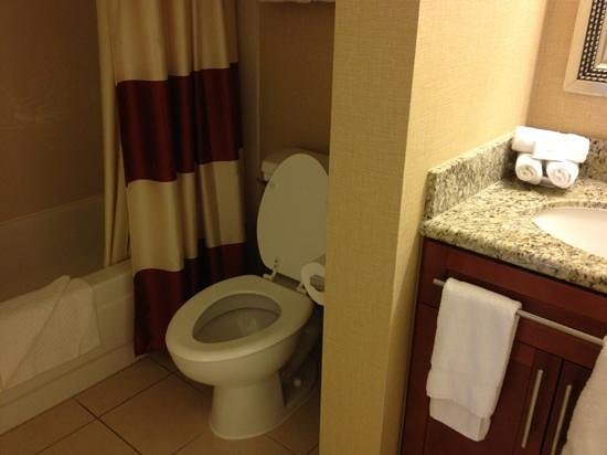 Residence Inn San Diego Rancho Bernardo/Carmel Mountain Ranch : restroom has a powerful vent. a plus
