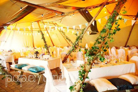 Hilden Brewing Company: inside Tipis for wedding