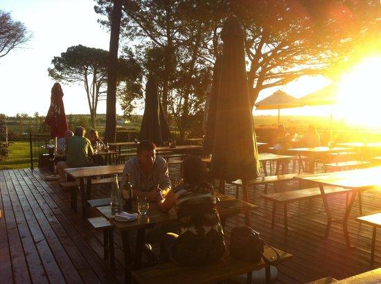 La Pineta : Sunset on the deck