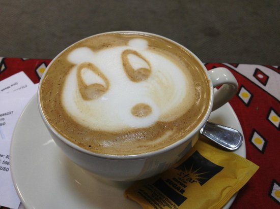 Holiday Inn Bulawayo : A panda in my coffee!  Great staff here.