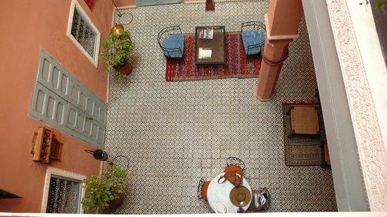 Riad Anne de Meknes: vue du 1er étage