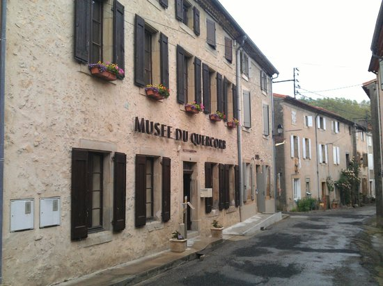 Puivert, France: the museum front in rue Barry du Lion.