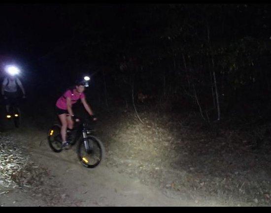 Bike N Hike Adventure Tours: Wife heading downhill