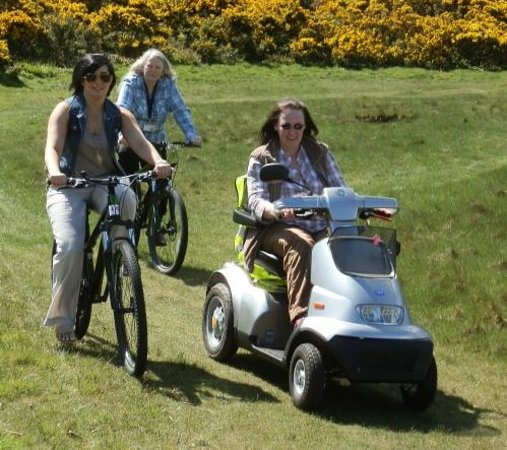 Carradale Bikes and Buggies: Riding in the sunshine