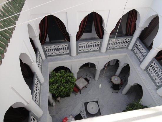 Riad Mirage: uitzicht vanaf het dakterras