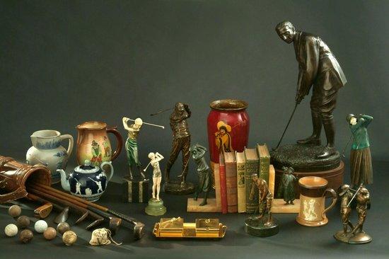 Golf Museum : Auszug einzelner, hochwertiger Exponate des Museums