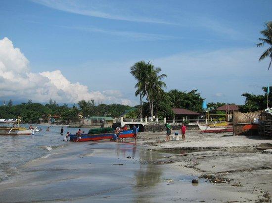 Subic Grand Seas Resort: that's the beach. it's not white.