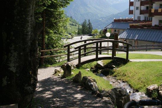 Kinderhotel Oberjoch: View from outdoor play area