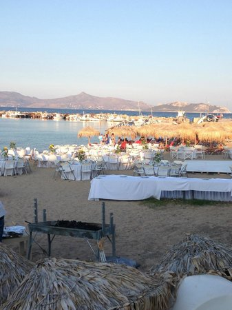 Alexandra's Hotel: Preparing for a wedding on the town beach.