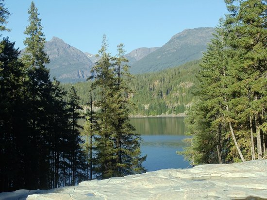 Strathcona Provincial Park: View of Buttle Lake from Myra Falls