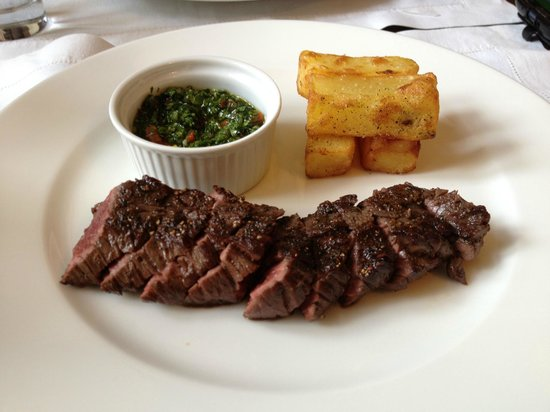 Druskos Namai: Bloodless steak :)