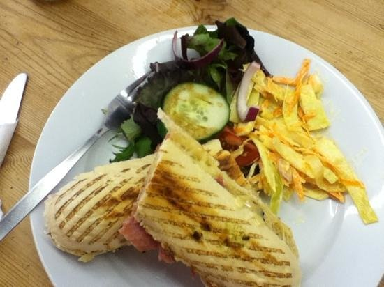 Sugar & Spice Cafe: ham and cheese panini