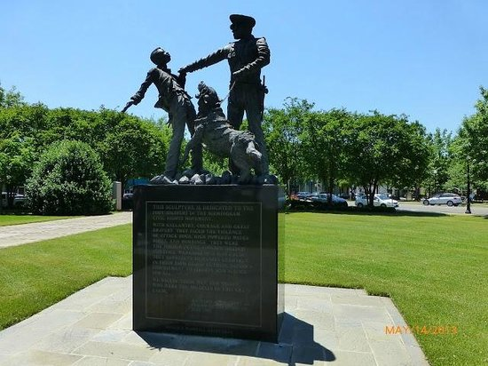 Birmingham Civil Rights Institute: Statue of police dogs set on civil rights demonstrators in Birmingham, Alabama.