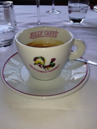 Coffe Cup from Trattoria Omero (They're always labelled in Italy.)