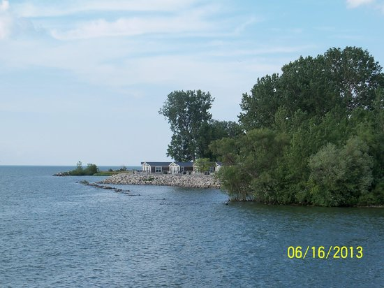 Lighthouse Point: View from the deck of Cottage 30