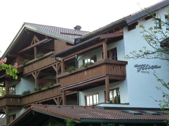 Hotel Filser: Kaminzimmer: Loggia