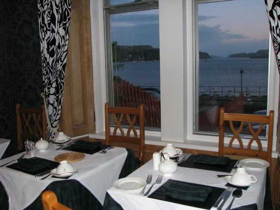 View from Kilchrenan House's Dining Room