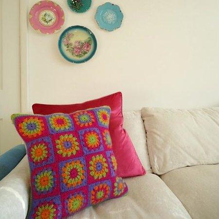 herdy wool & felted cushion