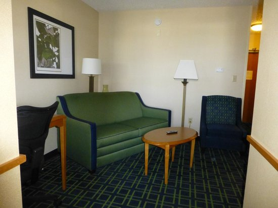 Fairfield Inn & Suites Roswell: Sofa in living room area (also with TV)