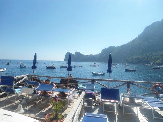 Olga's Residence Relais: Private Beach