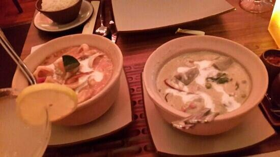 Royal Orchid: masaman curry and thai green curry