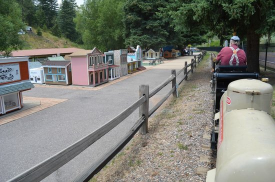 Riding on the Tiny Town train