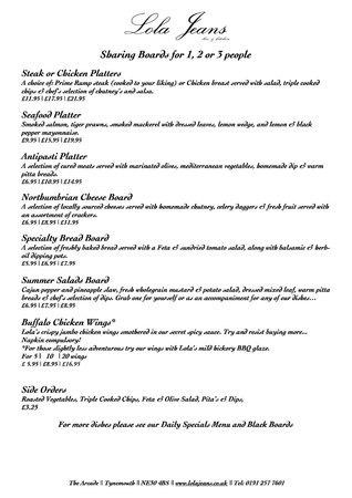 Lola S Kitchen Brunch Menu