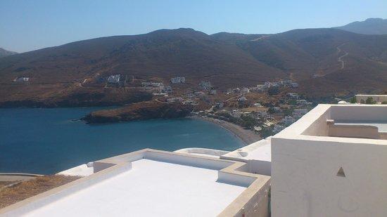 Kalderimi: Room view from veranda to Livadia bay