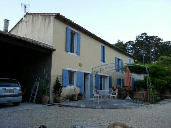 le mas de la menouille : view of her house