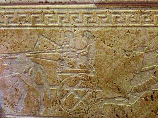 B&B Qui dormi l'Etrusco: particolare  delle mattonelle del bagno