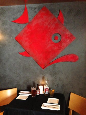The Square Grouper: the logo wall in the bar