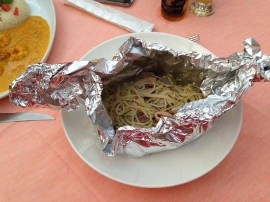 Da Pallino : spaghetti al cartoccio