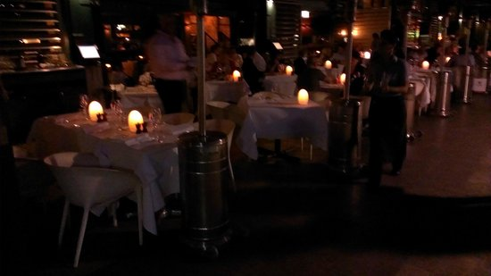 China Doll: Tables outside
