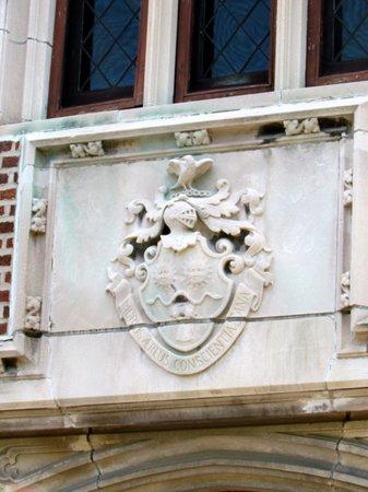 Mayslake Peabody Estate: Family Crest over entrance