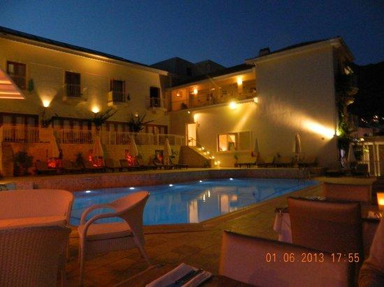 Rhapsody Hotel: The Hotel & Pool By Night