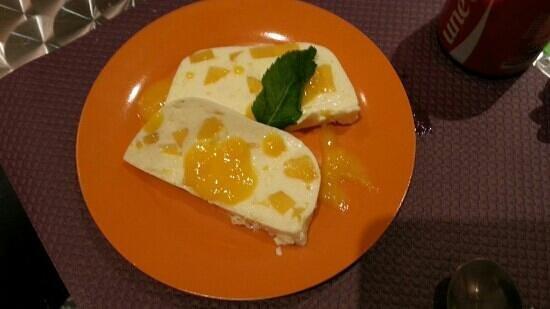 Crocantine : terrine fromage blanc et mangue