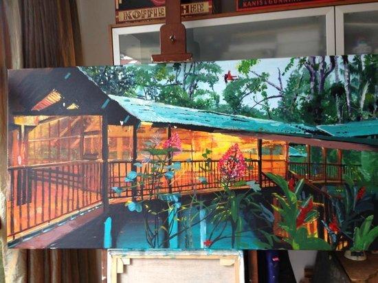 Selva Verde Lodge: Voor boven de piano...bedankt Louis..prachtig weergegeven.