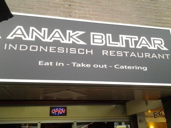 Restaurant Anak Blitar : sign