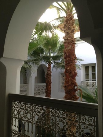 Riad Vert Marrakech: view from the hall