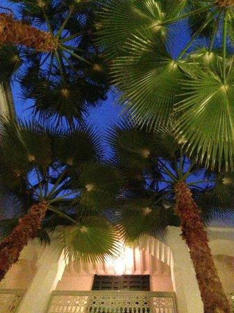 Riad Vert Marrakech: dining under the sky