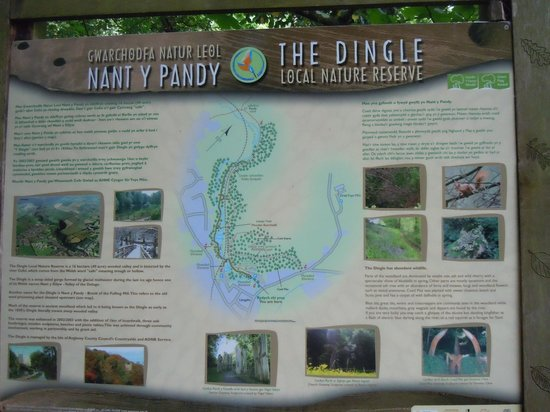 The Dingle (Nant y Pandy) Nature Reserve: Map