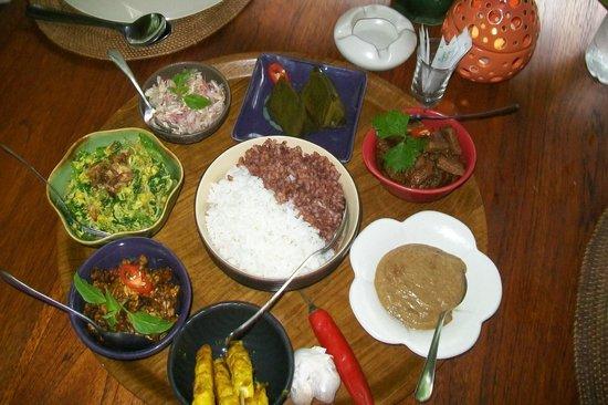Rumah Desa Balinese Home and Cooking Studio: Mittagessen